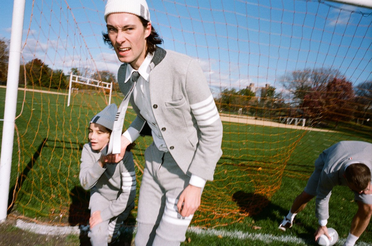 ... grey vs. navy ... thom browne football 2019. view more now, on thom browne journal.  https://bit.ly/2DrbRkK  #thombrowne  #thombrownefootball