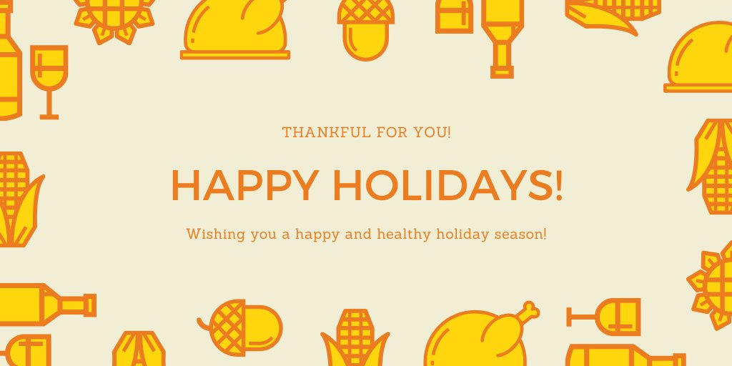 Were wishing you a happy and healthy holiday season! #HappyThanksgiving