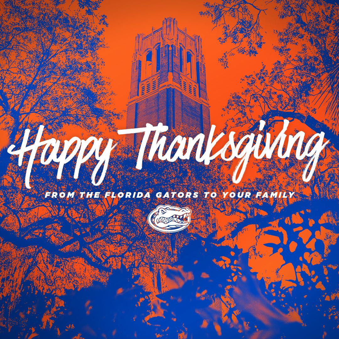 Replying to @FloridaGators: Happy Thanksgiving! #GoGators