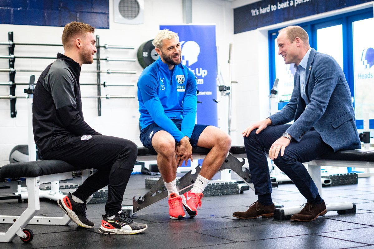 Today The Duke of Cambridge visited @WBA⚽ with the #HeadsUp campaign to meet the clubs coaches and players, and speak about the pressures they face and the importance of talking about them.