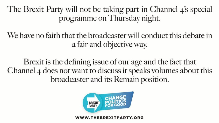 This is why we are not taking part in Channel 4's programme tonight. ⬇️