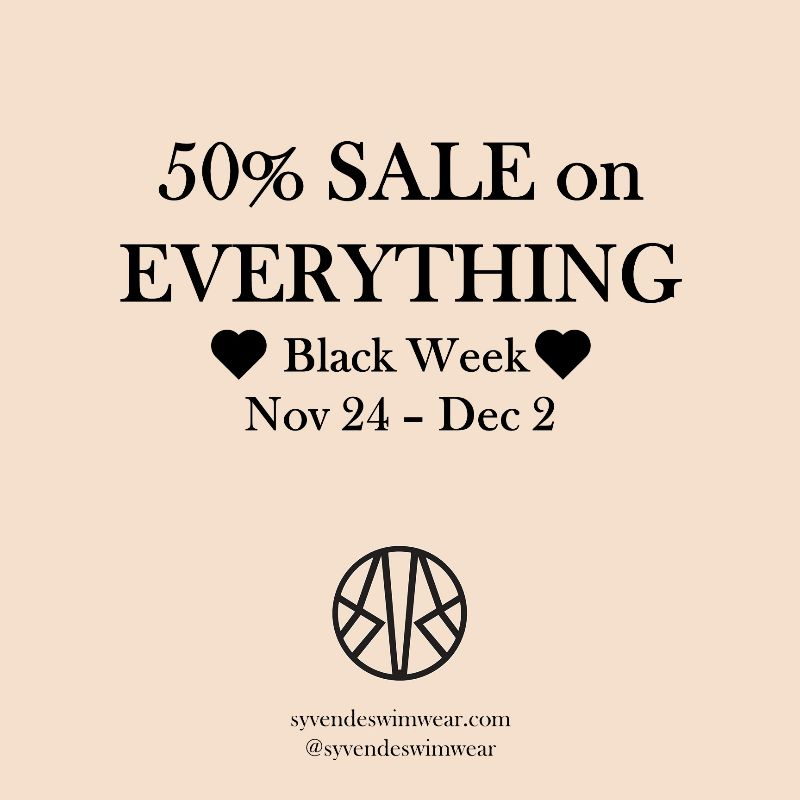 🖤🖤🖤Black Friday 50% on EVERYTHING!🖤🖤🖤 - https://t.co/DVNx9d6foX #blackfriday #blackfriday2019 #cybermonday #swedishdesign #luxury #swimwear #swimsuit #bikini https://t.co/utfNzTcZgs
