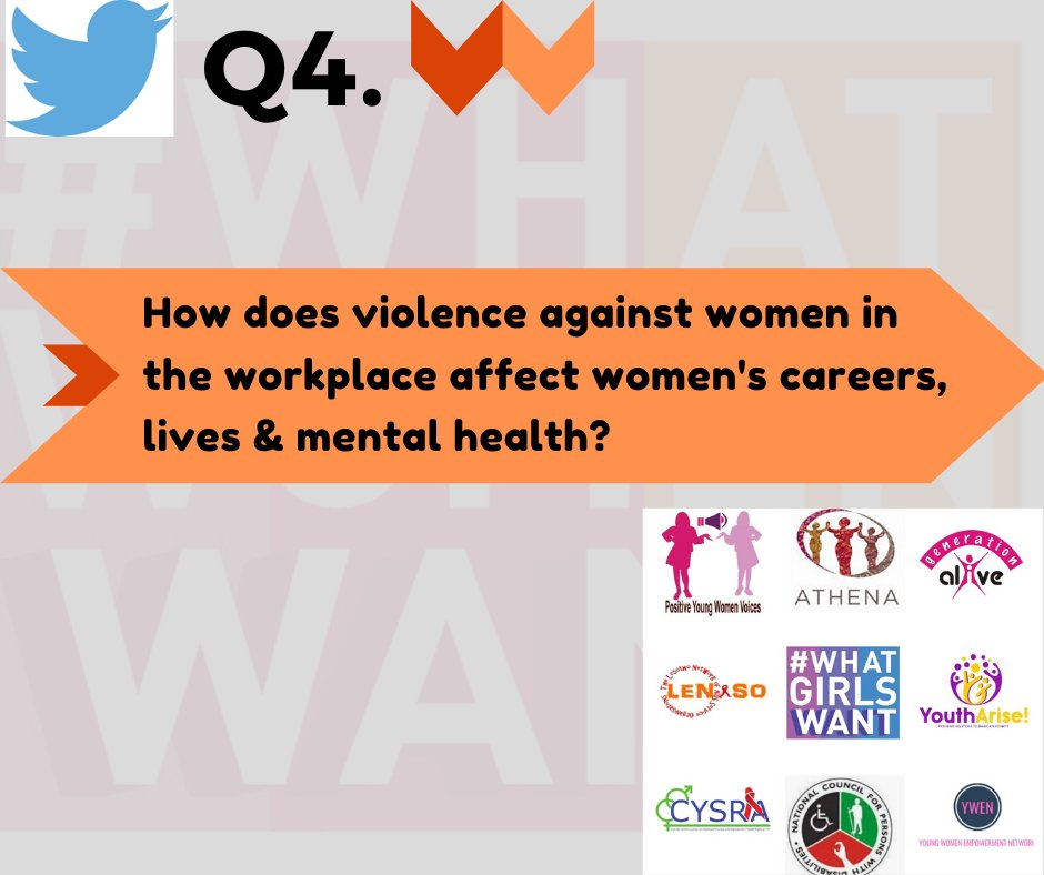 Q4. What are the consequences of #VAW/G on women and girls' lives, health & well-being? #WhatGirlsWant #16DaysOfActivism #orangetheworld  @ETCrone @SayftyCom @SalamanderTrust https://t.co/GRJI0wcQiF