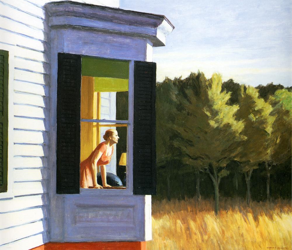 Cape Cod Morning, 1950 #edwardhopper #newrealism <br>http://pic.twitter.com/ASKyHMIQXL