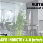 Image for the Tweet beginning: SENIOR MANAGER INDUSTRY 4.0