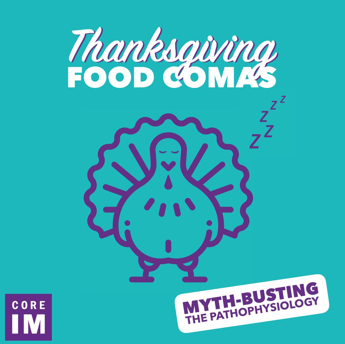 There are several hypotheses on what *actually* causes postprandial somnolence. So in the spirit of #Thanksgiving, let's take a more critical look at some of these while you salivate over the prospect of your afternoon #turkey. 1/5