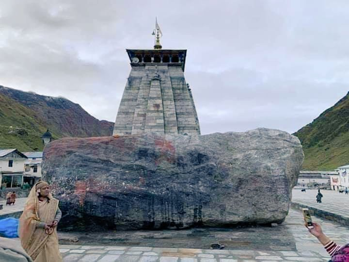 """Kashmiri Pandit कश्मीरी पण्डित on Twitter: """"AUM Namah Shivay !! Bhim Shila  - A massive boulder blocked path of water & saved temple from flood of 2013  Believed to be built by"""