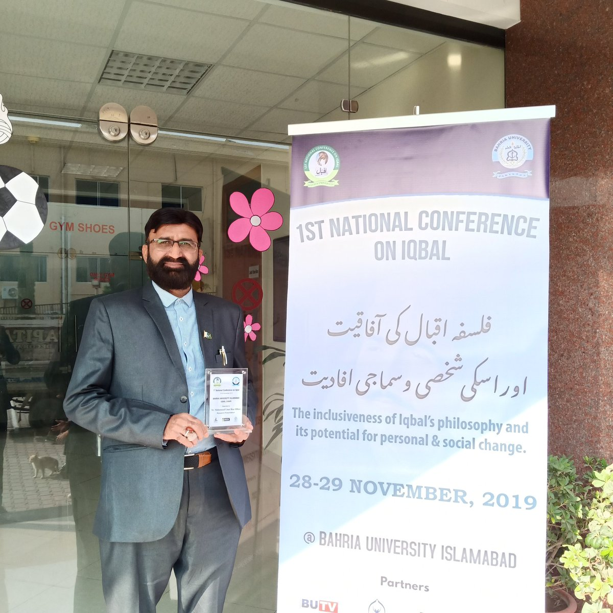 After Presenting Research Paper at National Iqbal Conference at Bahria University Islamabad