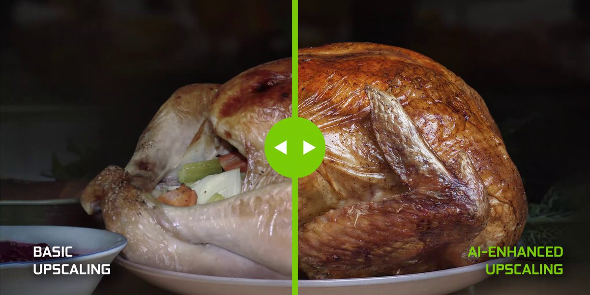 AI upscaling – something we're thankful for. 🦃 Happy Thanksgiving from #NVIDIASHIELD!