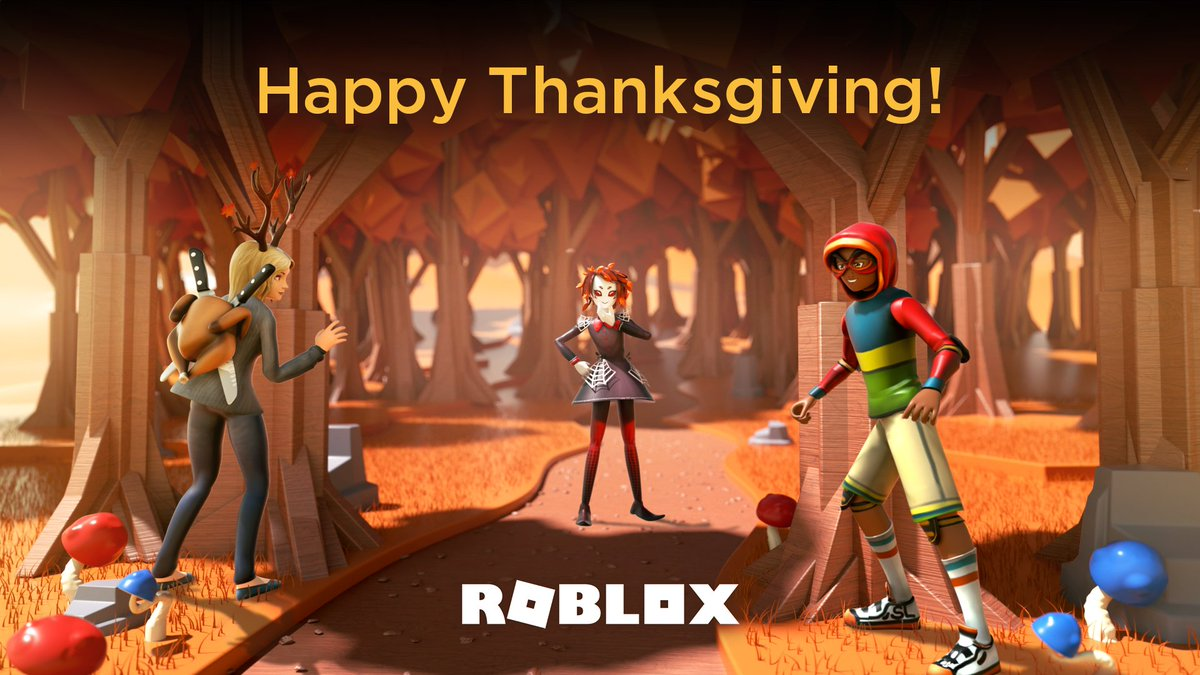 Wherever you are: here's to a day filled with food, friends, and family. Happy Thanksgiving! 🦃 #Roblox #HappyThanksgiving #Thanksgiving2019 #Thanksgiving19