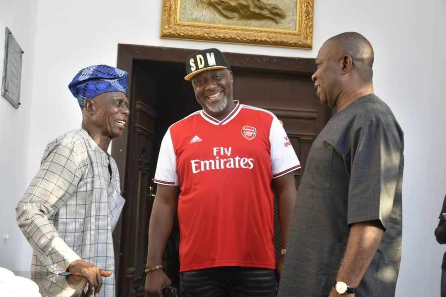 Senator Dino Melaye Strikes Pose With His Father, Ekweremadu