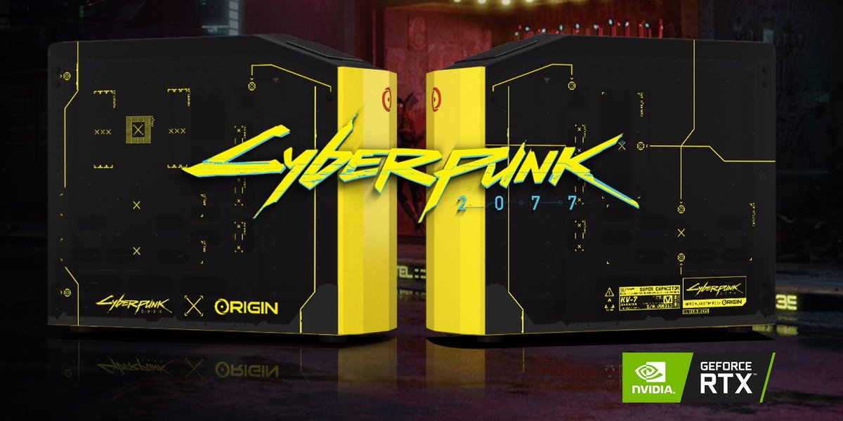 🎁 [CUSTOM DESKTOP GIVEAWAY] 🎁Enter for a chance to win a custom liquid-cooled ORIGIN PC MILLENNIUM inspired by @CyberpunkGame and powered by @NVIDIAGeForce RTX!Enter here: http://bit.ly/2qH3Zcp(NA ONLY)