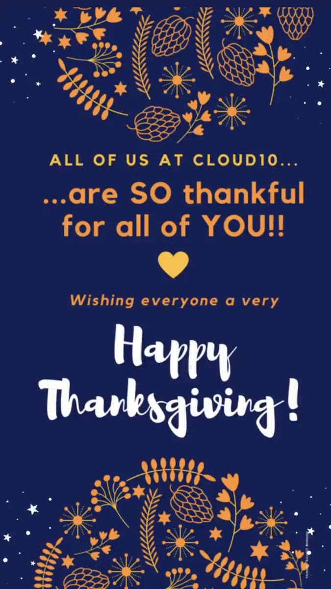 #HappyThanksgiving 💙, #Cloud10