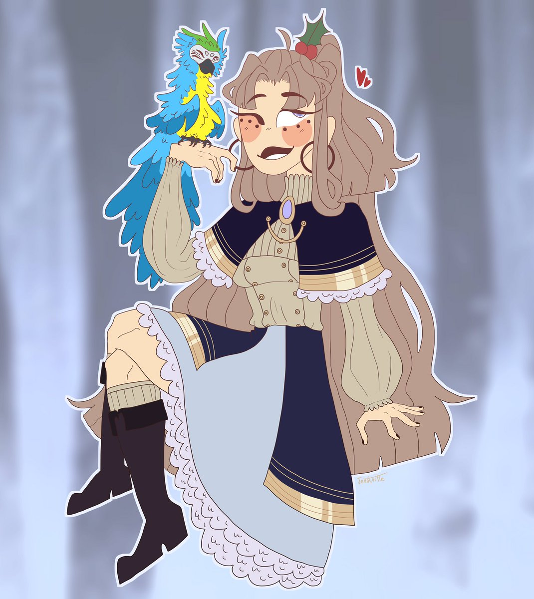 My girl jelly in the winter ball get up :))  - - - - @thearcanagame #thearcana #thearcanagame #arcanafanapprentice #thearcanafanapprentice #oc #thearcanaocpic.twitter.com/3UBf7VRRHC