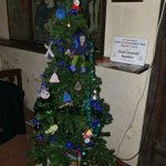 Come and see our tree at the Festival in the Parish Church in STROUD. Note the new figure made by Ann. Should be on top of the tree but too heavy - typical Rambler.