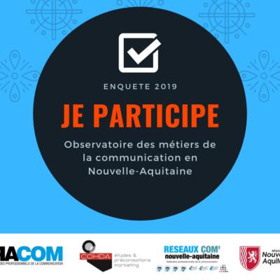 Chers communicants, il ne vous reste que quelques jours pour participer à l'Observatoire des métiers de la communication en Nouvelle-Aquitaine Votre avis est indispensable, merci de bien vouloir répondre au questionnaire ci-dessous  👇 https://t.co/igxiSbOckO