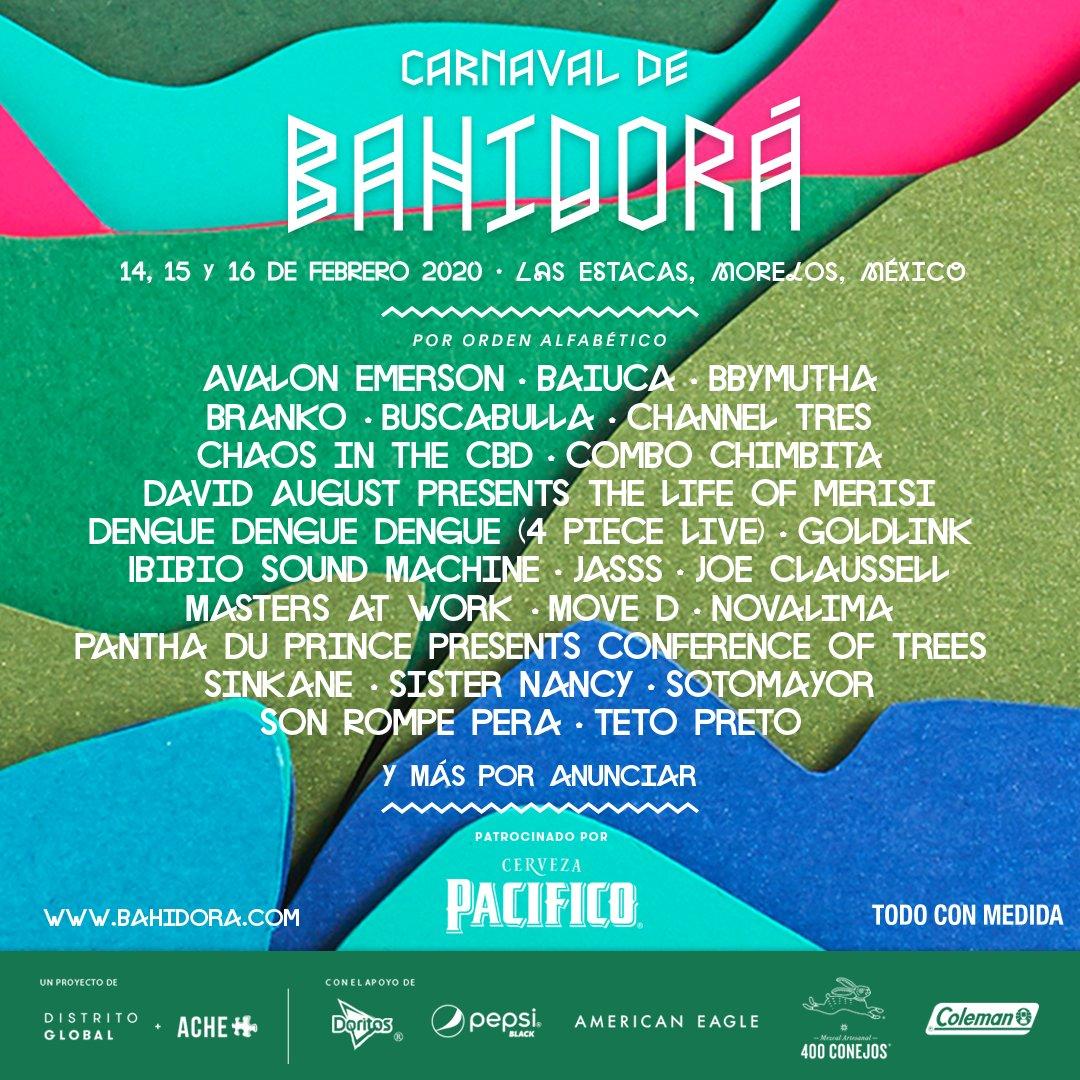 Carnaval de Bahidora Lineup