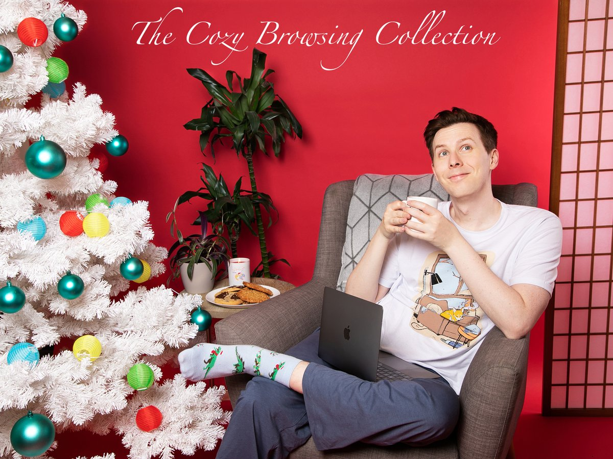 The cozy browsing collection is here! Featuring comfy pyjamas, a festive candle, my very own hot chocolate blend and some slightly odd dinosaur socks! 😊🕯💤☕️ 🌍danandphilshop.com/collections/am… 🇺🇸 us.danandphilshop.com/collections/am…