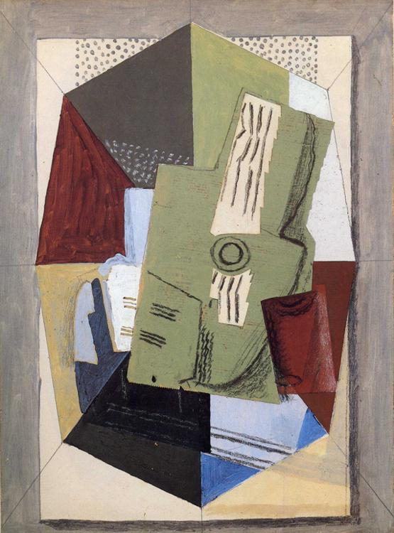 Guitar and Sheet Music on Table, 1918 #syntheticcubism #frenchart<br>http://pic.twitter.com/qXJVKodGkk