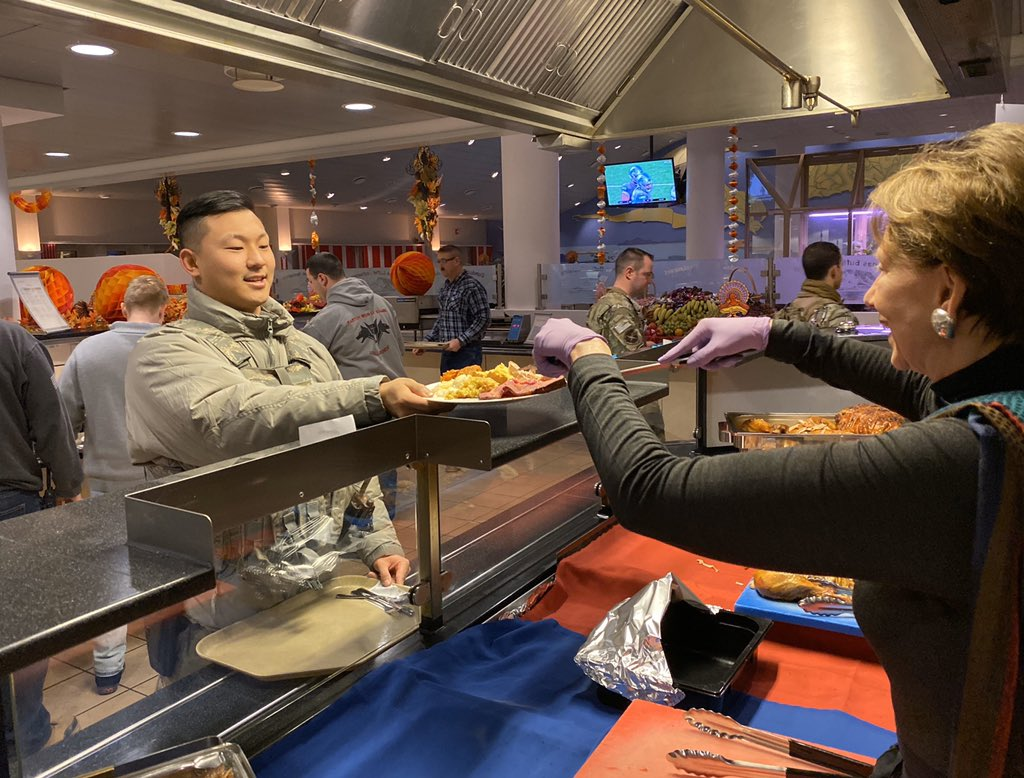 Thankful to spend #Thanksgiving with #Airmen at Thule Air Base, Greenland @AFSpace @PeteAFB! We appreciate all service members & families around the world for their sacrifice & #service to our nation.
