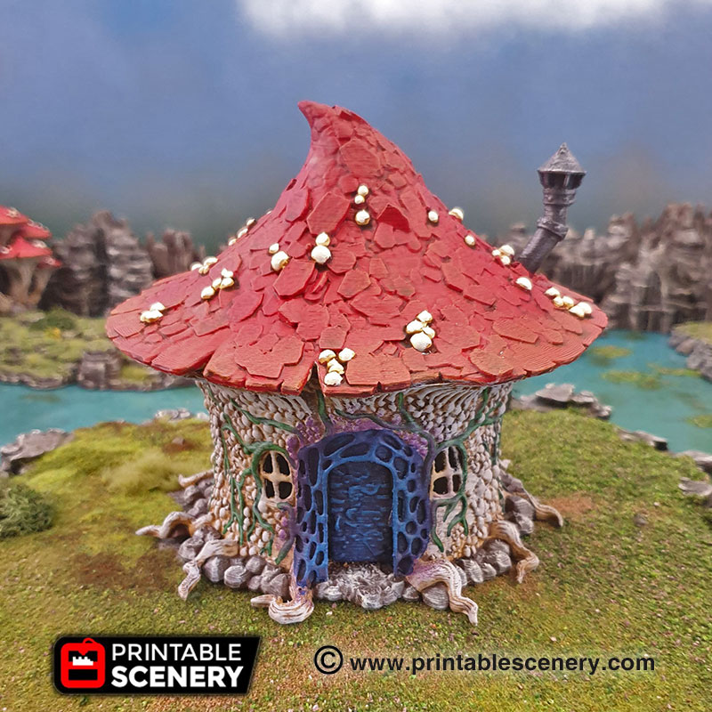This is a photo of Printable Scenery Kickstarter with dwarves elves