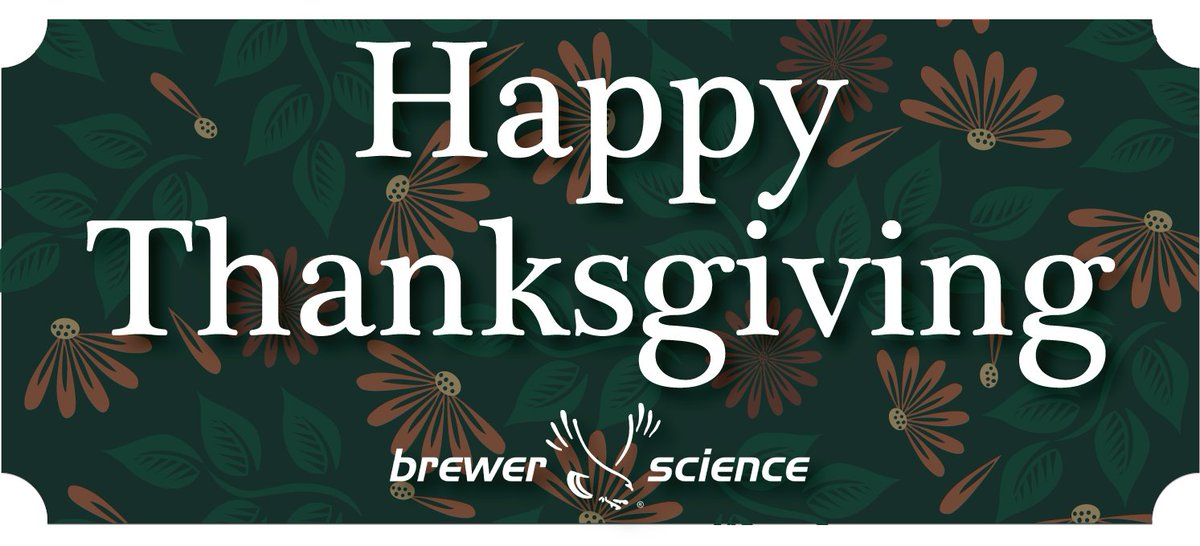 test Twitter Media - Thanksgiving is a time to remember everything we're #thankful for. Brewer Science is grateful for our customers & partners, our community, & most importantly, our amazing employees. We wouldn't be here today without them. We'd like to wish a very happy Thanksgiving to all! https://t.co/dndLEsh5Ec