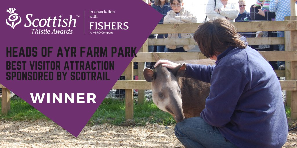 The award for Best Visitor Attraction goes to Heads of Ayr Farm Park @ScotRail  #ThistleAwards