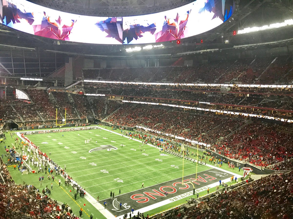 Jeff Duncan On Twitter Thousands Of Atlanta Fans Dressed Up As Empty Seats In Mercedes Benz Stadium For Tonight S Saints Falcons Game