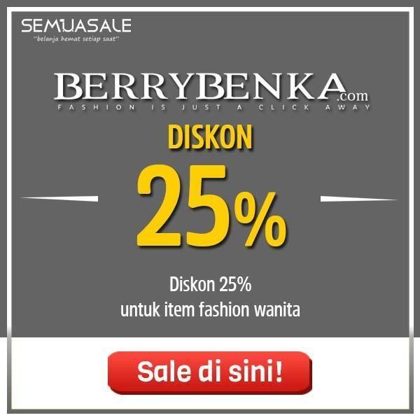 Buat kamu yang menunggu promo gajian dari Berrybenka, kini saatnya! Belanja jadi lebih hemat tanpa takut boros dengan diskon sebesar 25% untuk berbagai item fashion wanita favoritmu. Yuk, belanja sekarang! . Info selengkapnya https://t.co/XW74FyJAd4 @Berrybenka https://t.co/WYFedcR29J