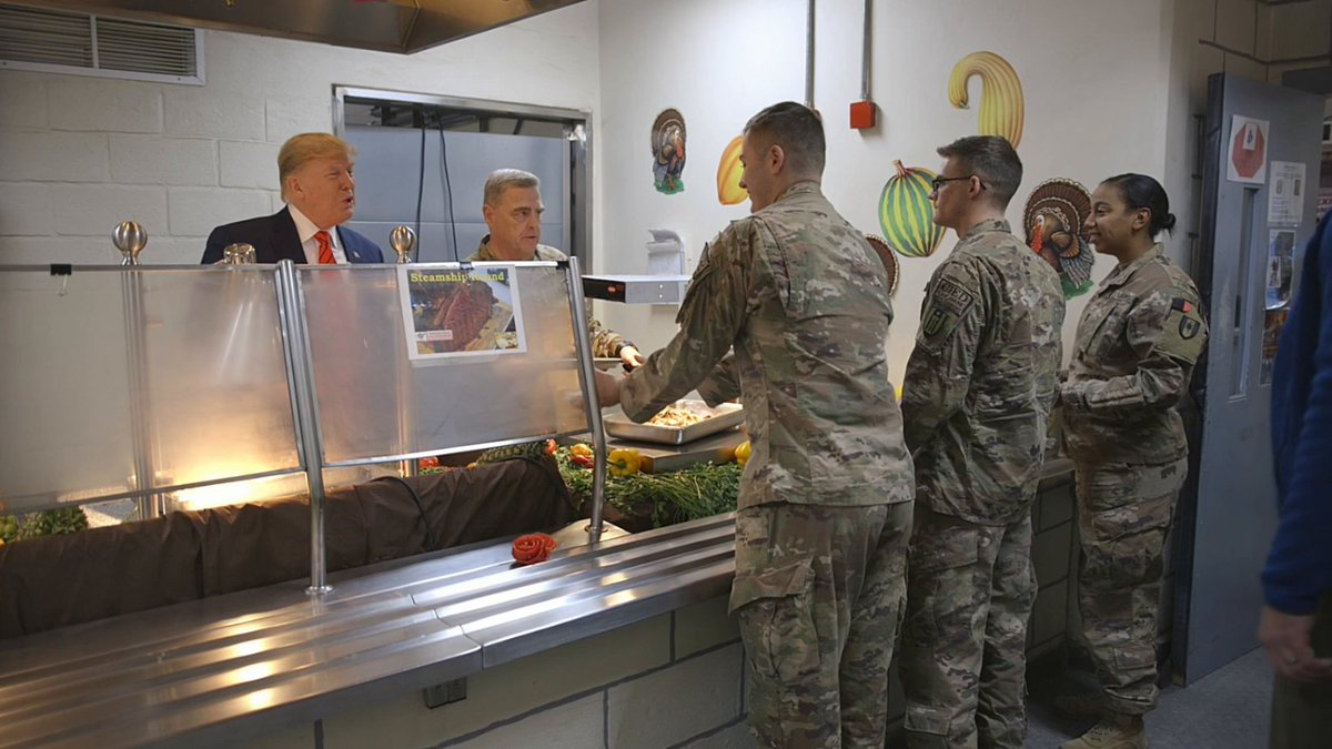President @realDonaldTrump flew overnight to Afghanistan to spend Thanksgiving with our troops. 🇺🇸 Theres nowhere Id rather celebrate this Thanksgiving than right here with the toughest, strongest, best, and bravest warriors on the face of the Earth.