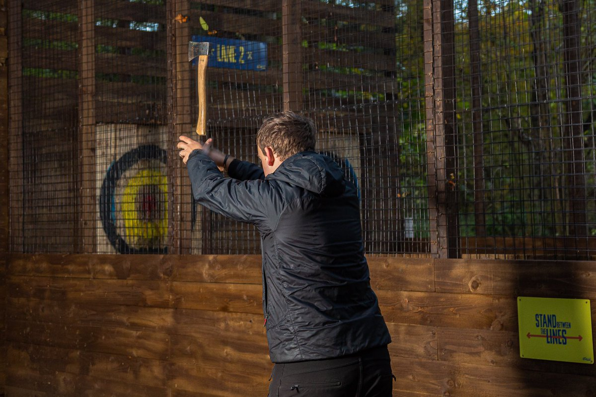 Back at @GoApeTribe Coventry this afternoon to work on some more images of their new Axe Throwing activity!   #GoApe #GoApeCoventry #CoombeAbbeyPark #AxeThrowing #CommercialPhotography #CommercialPhotographer #StageTaken