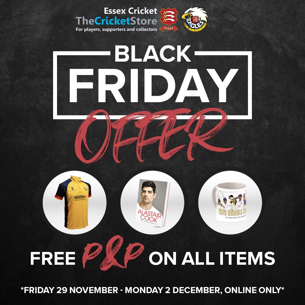 ⚫️ #BlackFriday is here and you can get Free P&P on all online orders until Monday! 🛒 bit.ly/EssexStoreBF19