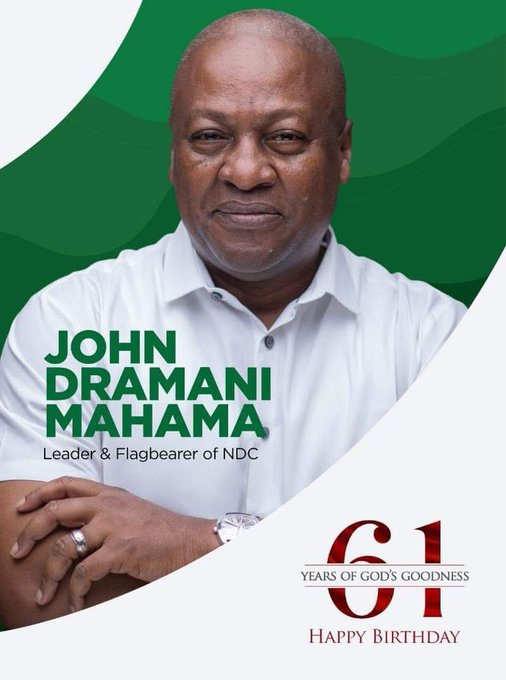 Happy birthday to the incoming president of Ghana H.E John Dramani Mahama. God bless you sir!