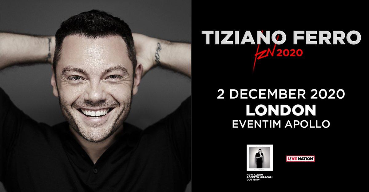Italian superstar, @tizianoferro plays a UK exclusive show at London's @EventimApollo next year.   Grab your tickets here:  https:// evntm.uk/tizianoferrotw    <br>http://pic.twitter.com/00QpzqBK4q