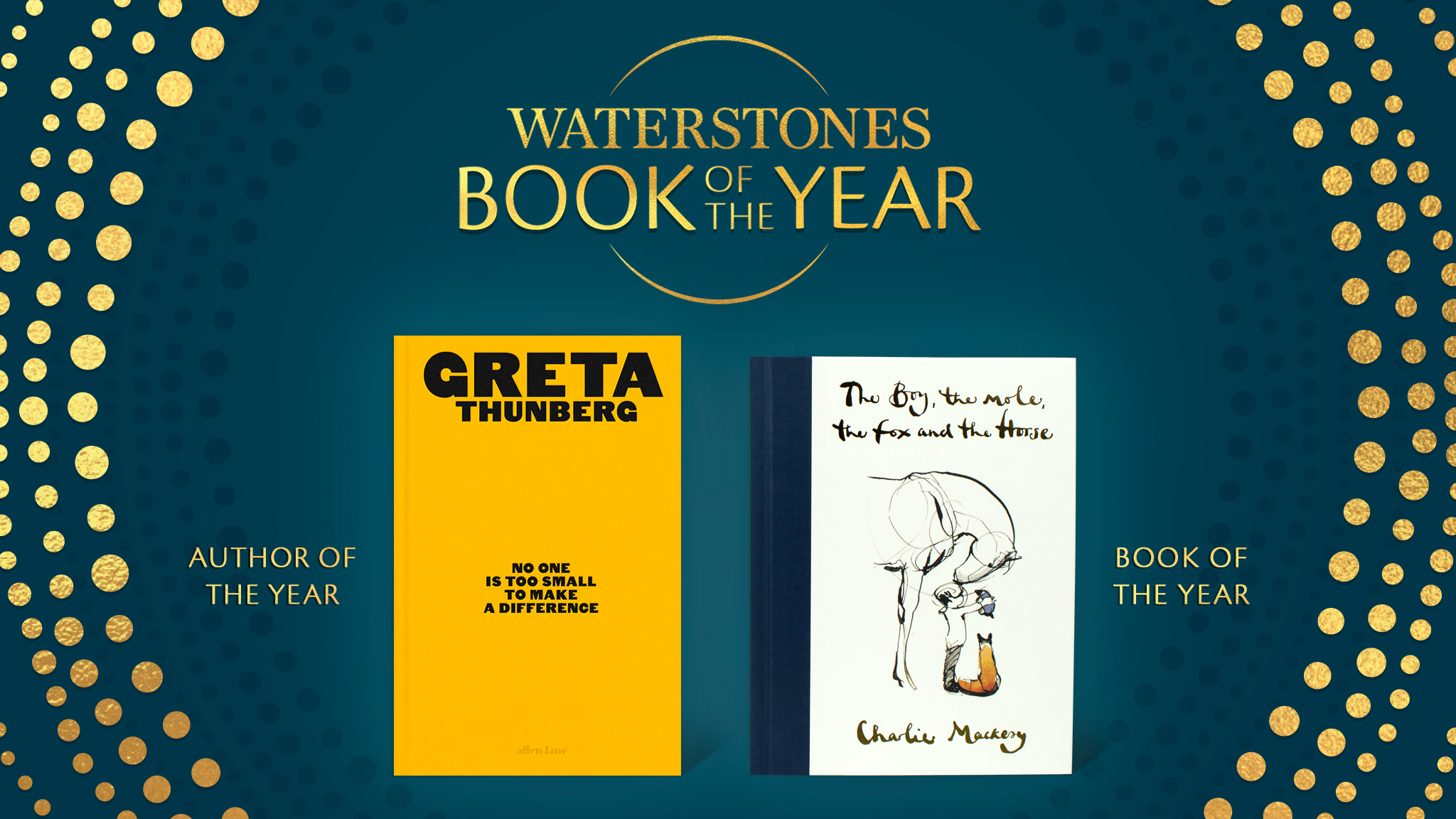 Penguin Books Uk On Twitter We Re Absolutely Over The Moon That The Boy The Mole The Fox And The Horse By Charliemackesy Is The Waterstones Bookoftheyear Gretathunberg Author Of One Is