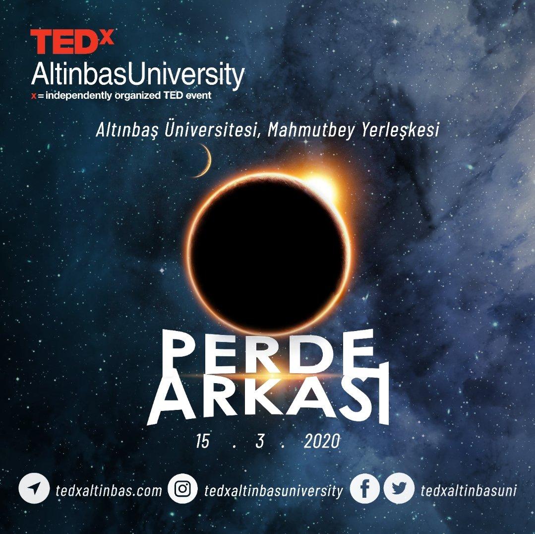 """TedxAltinbasUniversity """"Perde Arkası"""" temasıyla 15 Mart 2020'de Altınbaş Üniversitesi- Mahmutbey Yerleşkesinde! #perdearkası  #tedx  #tedxaltinbasuniversity   Tasarım ekibi: Onurcan Gökçetin"""