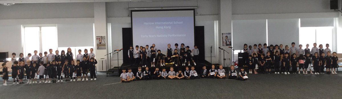 We may have only had a week of rehearsals but #HarrowHKEarlyYears have been practising hard and are nearly ready for next week's performances of 'Everyone loves a baby' #feelingChristmassy #Nativity @Harrow_HK