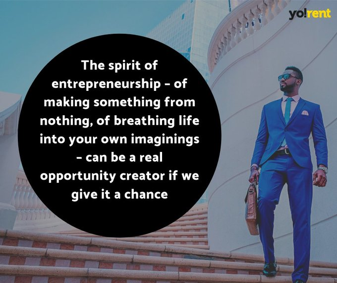 The spirit of entrepreneurship – of making something from nothing, of breathing life into your own imaginings – can be a real opportunity creator if we give it a chance. #business #motivation #success #mindfulness #entrepreneurship pic.twitter.com/mOC5Dgh8MU