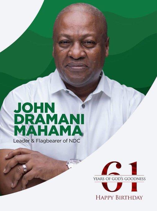 Today marks the 61st birthday of H.E. John Dramani Mahama, former president of Ghana. Happy birthday Sir!