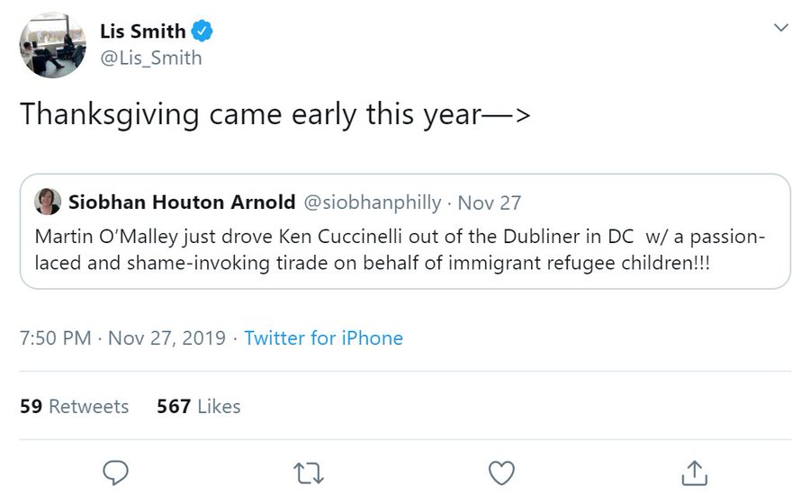 Senior Adviser to Democrat presidential candidate Pete Buttigieg appears to be happy that a Democrat harassed a member of the Trump admin in public to the point where the official had to leave the event A presidential campaign promoting harassment of officials is disgusting twitter.com/Lis_Smith/stat…