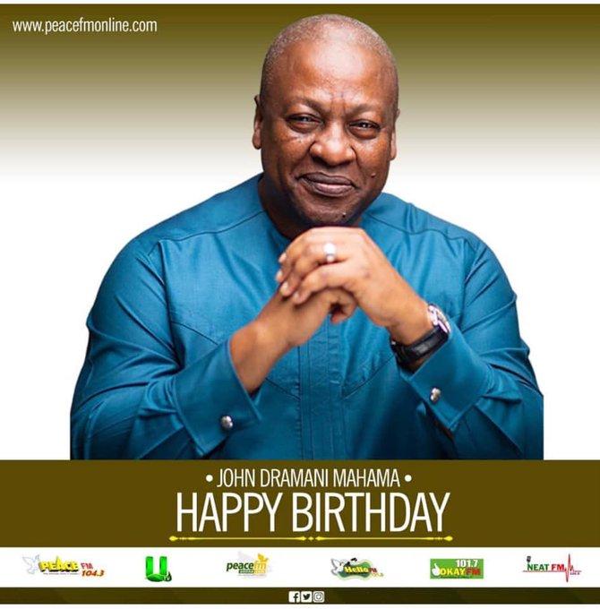 Happy Birthday to Fmr. President of the Republic of Ghana, H.E John Dramani Mahama
