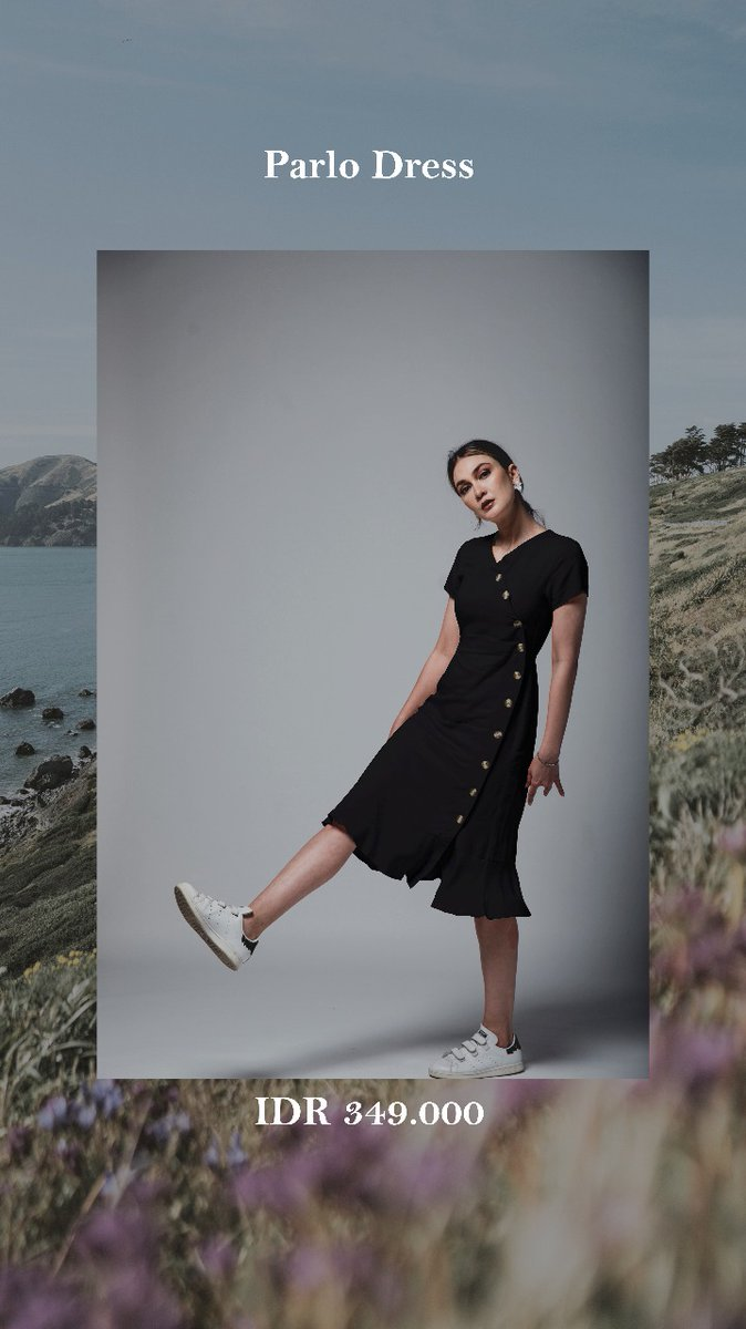 How to wear your black dress? Pairing with your fav sneakers, and your are ready to goooo 😍  #PlatonicDream #BlackDress #ParloDress   Shop at