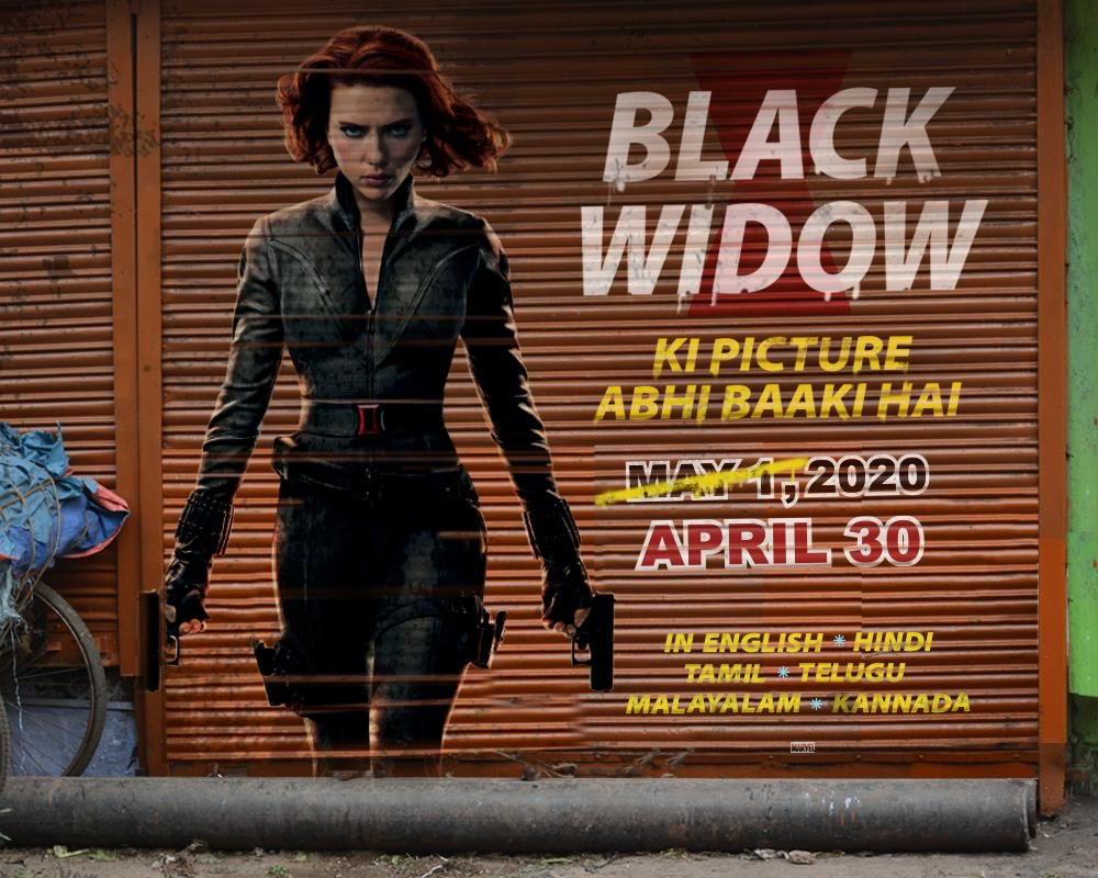 #MarvelStudios's #BlackWidow ft. #ScarlettJohansson to release in India on April 30, 2020, a day before its release in the US.✌🏻 The film will release in 6 languages- English, Hindi, Tamil, Telugu, Malayalam and Kannada. @Marvel @MarvelStudios @BlackWidow #PRDMovieReviews