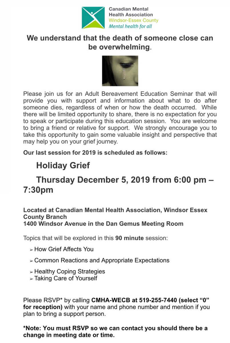 test Twitter Media - We will be holding a holiday grief session on Dec.5th - please share! #bereavement #grief https://t.co/WTC9tJUbqY