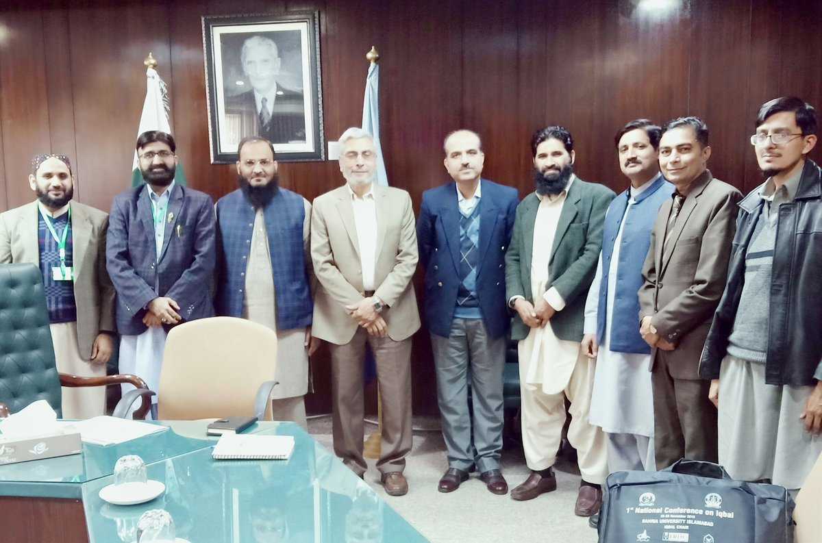 Visit of Higher Education Commission (HEC) Islamabad Headquarter along with Dr Syed Abdul Ghaffar Bukhari HOD NUML and Faculty members of Universities to participate in meeting regarding Research Journals with Director Research HEC Dr Zain Ul Abideen.