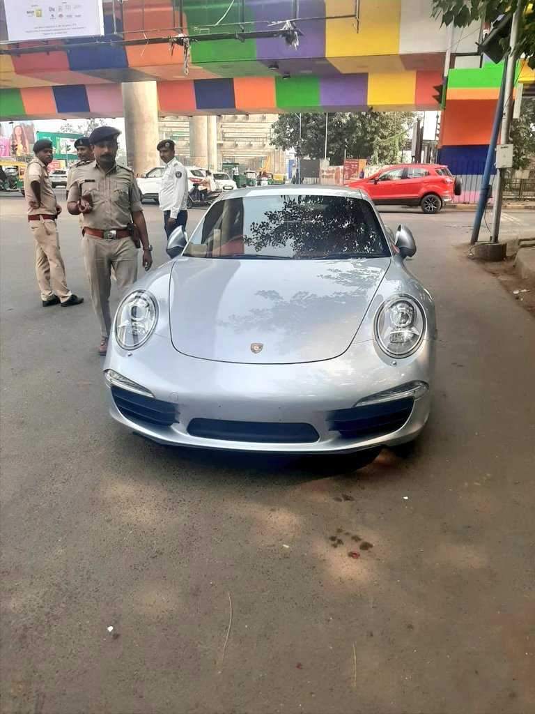 Rs. 27.68 lakh fine on the owner of Porsche car in Ahmedabad