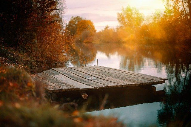 Wooden Pier In Autumn Scenery by Tama66  https://pixabay.com/p-4639368