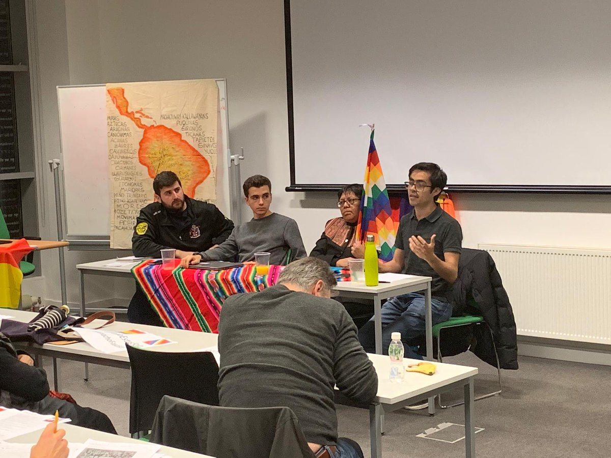 Great meeting today with Bolivian comrades Enrique Castañon and Amancay Colque as guest speakers. Let's continue supporting those resisting fascism and imperialism! #BoliviaCoup #BoliviaResiste <br>http://pic.twitter.com/4t0wIxrd0Z