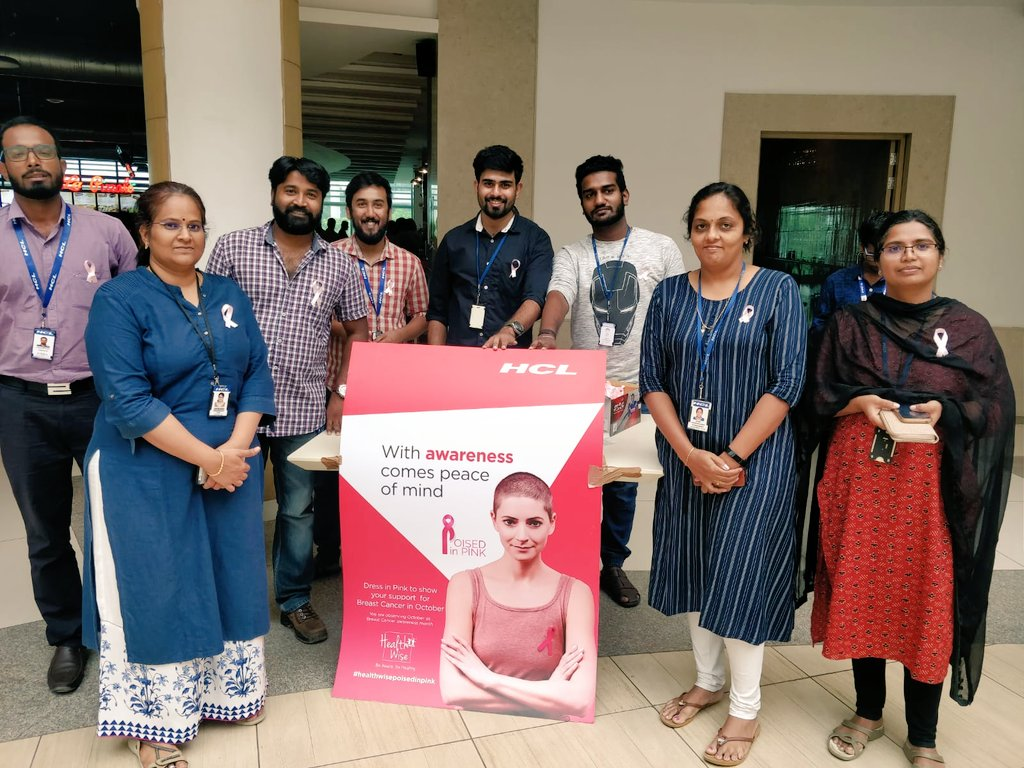 HCL India raising breast cancer awareness