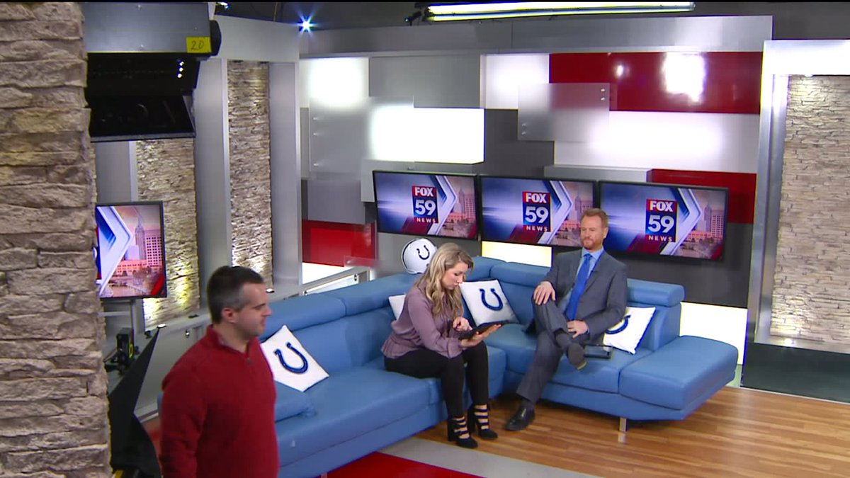When unexpected jib shots happen. Why am I sitting like a dude? Who knows. @FOX59SJONES is cool as a 🥒as always.  Oh, hey, Brad 👋 @bhuber1070 @FOX59